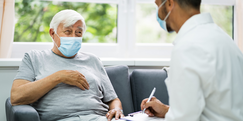 A patient gets preventative treatment thanks to MySense AI alerts